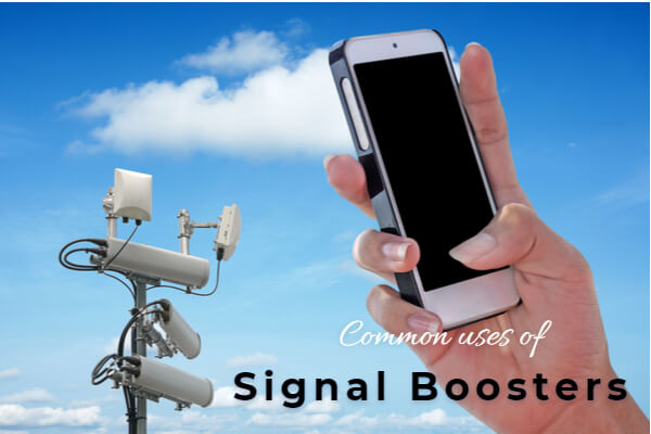 What are the most common uses for signal boosters in the UK